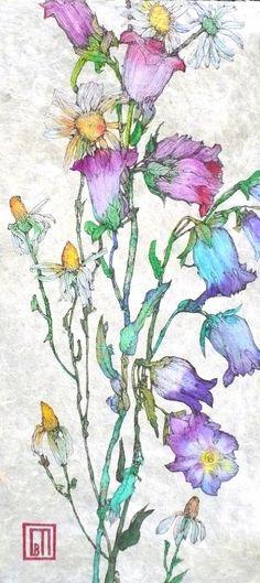 Floral Art by artist ©Sofia Perina Miller Illustration Botanique, Art Et Illustration, Botanical Illustration, Illustrations, Watercolour Painting, Watercolor Flowers, Painting & Drawing, Watercolors, Arte Floral