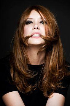 Paula Bonet. love that haircolor.