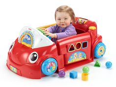 Gifts for Babies and Toddlers ~ This Laugh & Learn Crawl Around Car is super cool.  It plays 75 songs/phrases, has a light-up interactive dashboard, and activities surrounding the whole thing.  Little ones love to crawl all over it.