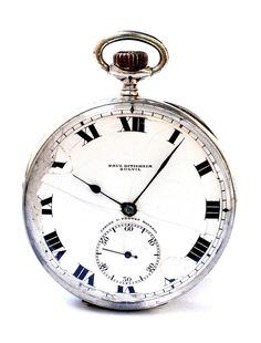 Antique Pocket Watch PAUL DITISHEIM Solvil Open Face Silver 1900c 51mm Working #PAULDITISHEIM #ArtDeco