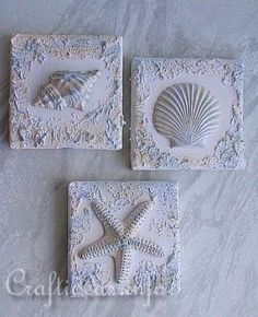 Not sure what stucture paste is but I think I might try this with real shells not plaster. by catalina