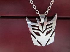 transformer necklace mask pendantcharm necklacesilver by gunrose