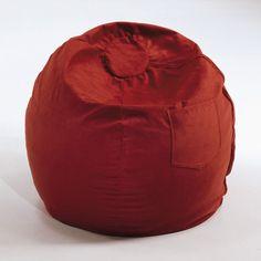 Bean Bag Chair Color: Red - http://delanico.com/bean-bag-chairs/bean-bag-chair-color-red-522797807/