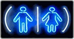 Restrooms Logo Neon Sign