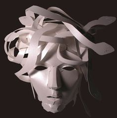 Paper Medusa mask by Heather Cristofaro, who has posters on sale here . And a few more links: Tips for impressing a potential land. Eleanor Of Aquitaine, Female Monster, Medusa Gorgon, Paper Mask, Greek Gods, Greek Mythology, Mask Design, Poster On, Art Projects