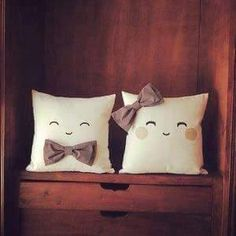 His & her cute pillows Cute Pillows, Diy Pillows, Decorative Pillows, Cushions, Throw Pillows, Cushion Covers, Pillow Covers, Sewing Crafts, Sewing Projects