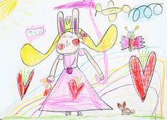 rabbit princess. pencil. 2013. A4.