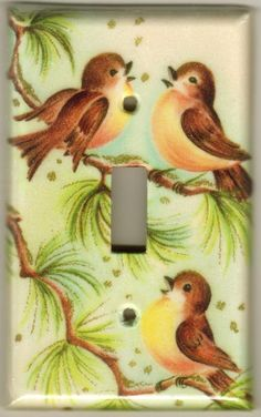 .Songbirds Light Switch Plate 10.00 Not sure where I would use these, but they are so cute!