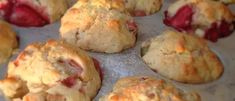 Rhubarb Recipes, Breakfast Muffins, Quiche Muffins, Biscuit Cookies, Muffin Recipes, Food To Make, Brunch, Dessert Recipes, Tasty