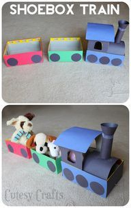 diycraftsideas4u:  Make a train out of - view more crafts HERE  Fun idea!