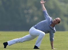 Prince William Performing Yoga Moves in White Jeans Is Your New Everything