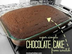 Super Simple Chocolate Cake {from scratch}