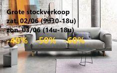 Verkoop toonzaalmodellen & grote stockverkoop (meubelen) -- Aalst -- 02/06-03/06