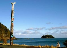 August 13, 2012: Totem pole at Skidegate Village, Haida Gwaii, photo by The Travelling Eye photography
