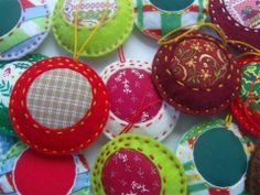 Padded christmas ornaments.  May try some of these as they're really easy