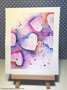 Love You #handmade card. Used #SSSFAVE Small Love You die and #SSSFAVE Hey Sugar stamp set.