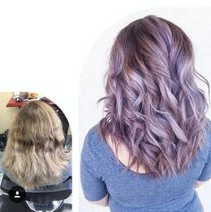 Shurie Jenai balayaged then toned with #KenraColor SV Rapid Toner for ten minutes. Shampooed and dried. Base is 7VM and 4 inches of Violet Booster. Melted in 8VM and 6 inches of Violet Booster. Processed for 30 minutes. Shampooed with #KenraPlatinum Blow-dry Shampoo and Conditioner. #MetallicObsession