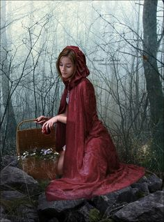 Little Red Riding Hood, Joneek Berta, deviantArt Red Riding Hood Wolf, Red Ridding Hood, Foto Fashion, Red Cottage, Big Bad Wolf, Red Hood, Little Red, Fairy Tales, Photoshoot
