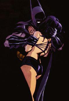 Meow Batman…Meow! art by Tim Sale.