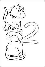 Number Two Coloring Page Printable Numbers Activities