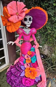 Halloween Skeletons, Halloween Crafts, Halloween Decorations, Diy Arts And Crafts, Decor Crafts, Fun Crafts, Horror Crafts, Pumpkin Decorating Contest, Mexican Crafts