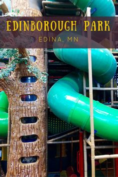 """Edinborough Park is a one-acre indoor park that offers multiple play options for little ones. There is """"The Great Hall,"""" or as my kids call it, """"The Open Gym,"""" where they can shoot hoops, bounce in the moonwalk, fly by on scooters and run, run, and run some more. """"Adventure Peak"""" is one of the largest and highest play structures in the country where kids can crawl up through tight spaces, walk across nets, climb through tunnels, whiz down slides of all heights, and ascend the 30-foot oak…"""