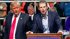 Eric Trump, youngest son of presumptive GOP nominee Donald Trump, has been making rounds with press affiliates to promote his father's presidential bid. On Thursday, Eric . Donald Trump Son, Eric Trump, Trumps Wife, New York Police, Nbc News, You Are The Father, Sisters, Nyc, The Incredibles