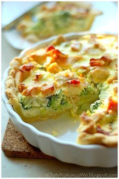 Cooking With Kids Code: 2173735192 Vegan Breakfast Recipes, Good Healthy Recipes, Simple Recipes, How To Cook Broccoli, Good Food, Yummy Food, Cooking Supplies, Best Food Ever, Quiche