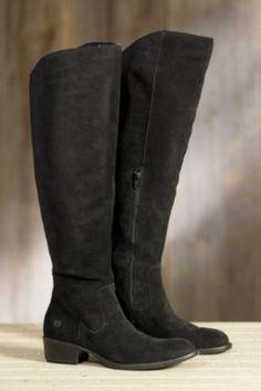 Women's Born Borda Suede Leather Boots, BLACK