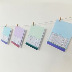 Set of 4 Amsterdam Cards, Blank Cards with envelopes, Pastel Cards, Greeting Cards, Thank You Cards, Note Cards, Notecards by PeonyandThistle on Etsy (null)