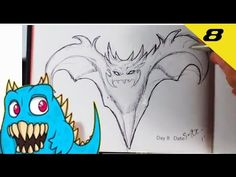 Daily Monster Sketch Journal - Day 8  #sketchmonster #easypicturestodraw   #coolstufftodraw   #howtodrawcoolthings    #funthingstodraw