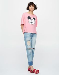:Mickey Mouse cropped T-shirt