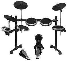 Behringer High-Performance Electronic Drum Set Sounds, 15 Drum Sets, LCD Display and USB/Midi, Silver E Drum Set, Drum Lessons, Drum Kits, Usb Drive, Cool Things To Buy, Stuff To Buy, Musical Instruments, Acoustic, Display