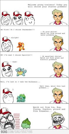 First Pokemon Problem... this makes me feel old.