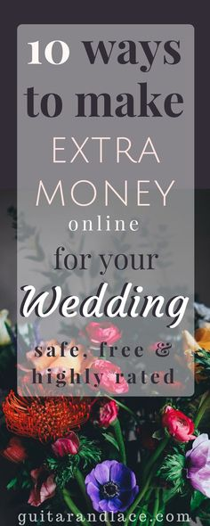 I've made over $100 in a month for my Wedding! Bride on a budget. DIY wedding. Make money online. Work from home.