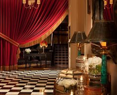 The Theatrical Redburry Hotel Interior