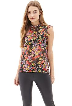 Ruffled Floral Blouse   Forever 21 - 2000105214