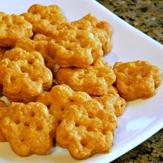 Chef John's Cheesy Crackers   These crunchy, crispy crackers have a big, bold cheese flavor.