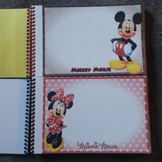 DIY Disney Autograph Book  1. Print images (check disboards) 2. Cut to size 3. Create cover using stickers and/or cutouts 4. Take to office supply store for binding (I paid 2.99 at office depot)