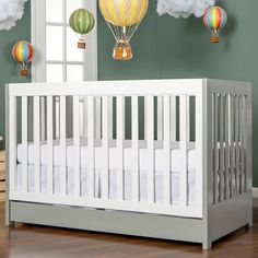 Shop for Dream On Me Milano Brown/White Wood Convertible Crib. Get free delivery On EVERYTHING* Overstock - Your Online Furniture Outlet Store! Contemporary Cribs, Modern Crib, Toddler Bed Mattress, Best Crib, Nebraska Furniture Mart, Business Furniture, Convertible Crib, Nursery Furniture, Nursery Neutral