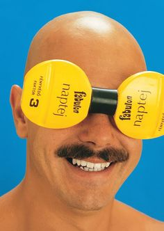 Protect your eyes with Fabulon sunblock lotion.