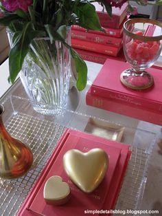 dollar store diy gold heart...