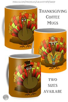 * Three Funny Turkey Thanksgiving Coffee Mugs to choose from! Designed by #Gravityx9 at Pixels and Fine Art America * Two options to choose form * This design is also available on home decor, tee shirts, and more.* Thanksgiving coffee mugs * holiday coffee mug * coffee mugs gift ideas * Thanksgiving coffee mugs gift ideas * gift ideas coworker * gift ideas friends adults * gift ideas coffee lovers * #Thanksgiving #Thanksgivingmug #holidaymug #Thanksgivingcoffeemug #Fallseasonsbest 0920