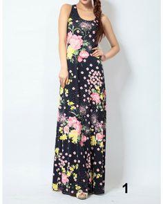 Buy Fashion Clothing - Slim European bohemian maxi dress - Maxi Dresses - Dresses