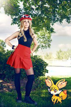 Pokémon Cosplay Serena Costume Blouse & Skirt | Costume ...