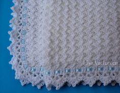 FREE Crochet Pattern Baby Blanket EASY - Little Clouds Crochet Blanket Pattern…