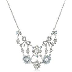 """Betsey Johnson """"Stone & Pearl"""" Crystal Gem Necklace, 19"""""""