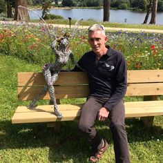 Your Friday Night Fairy Fix We put a fairy trail of 7 fairies into Trentham Gardens in October As of last week, there are now Robin Wight, Fantasy Wire, Happy 60th Birthday, Sculpture Art, Wire Sculptures, Wire Art, Fairy, Night, People