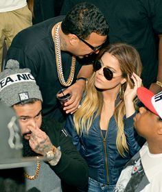 Khloe Kardashian and French Montana attend a party at Compound on May 10 in Atlanta