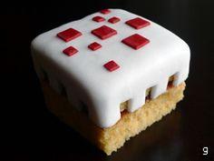 Minecraft cake cupcake